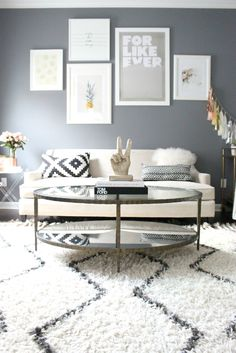 Great Room Gallery Wall Design // Zoe With Love