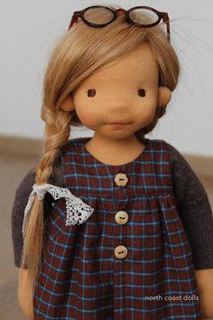 Helena natural fiber art doll by lalinda – Artofit Tiny Dolls, Soft Dolls, Child Doll, Boy Doll, Fabric Toys, Waldorf Toys, Sewing Dolls, Doll Clothes Patterns, Doll Face