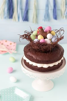 """Easter Bird nest"" chocolate cake"