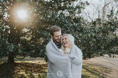 Outdoor Winter Engagement Photo Session || Blanket || Garden || Memphis Engagement Photographer || Christen Jones Photography