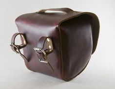 Leather Bicycle Bag Handlebar Bag Seat Bag Saddle Bag Hand Stitched Full Grain - Hand and Hide LLC Leather Bicycle, Bicycle Bag, Bike Leathers, Camping Gifts, Bicycle Accessories, Cycling Equipment, Leather Backpack, Leather Bags, Saddle Bags