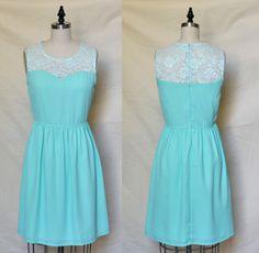 PROVENCE Aqua CUSTOM FIT Aquamarine mint chiffon dress by mfandj, $60.00