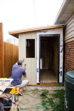 Do you need another place to store your yard tools? It's time for a shed and here is how to install siding and trim on a shed! Do you need another place to store your yard tools? It's time for a shed and here is how to install siding and trim on a shed! Garden Storage Shed, Diy Shed, Lean To Shed, Large Sheds, Yard Tools, Shed Kits, Backyard Sheds, Tool Sheds, Shed Design