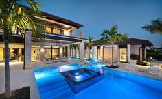 Blue Residence by Harwick in Florida Iam Architect. Idée piscine avec marches