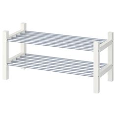 IKEA - TJUSIG, Shoe rack, white, If you need more storage space for your shoes, simply stack one sho White Shoe Rack, Diy Shoe Rack, Shoe Racks, Small Shoe Rack, Shoe Rack Walmart, Diy Storage, Storage Spaces, Shoe Storage Hacks, Storage Ideas
