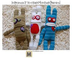 Sock monsters, with a different approach to cutting/sewing