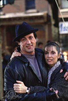 Still of Sylvester Stallone and Talia Shire in Rocky V (1990) http://www.movpins.com/dHQwMTAwNTA3/rocky-v-(1990)/still-3399793408
