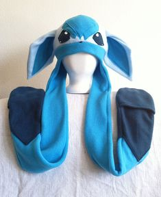Glaceon+Fleece+Pokemon+Hat+by+HatShenaniganz+on+Etsy,+$45.00