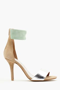 jeffrey campbell nude/mint/silver pumps for summer