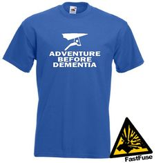 Hang Gliding Adventure Before Dementia T-shirt.    If youre a Hang Glider and you like adventures then this one is for you!    SIZES:    Small - 35/37 Inches  Medium - 38/40 Inches  Large - 41/43 inches  XL - 44/46 Inches  XXL - 47/49 Inches    COLOURS:    Available in Royal Blue, Navy Blue, Black, Burgundy, Graphite, Red, Bottle Green & White.    White T-shirts will have a Black graphic, all other colours will be made with a White graphic.    ITEM DETAILS:    Thi...