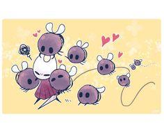 Chibi, Team Cherry, Hollow Night, Fandom Games, Hollow Art, Fanart, Knight Art, Bee Art, Spooky Scary