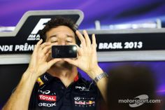 Mark Webber in the FIA Press Conference (Interlagos 2013)