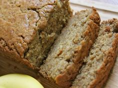 This banana bread is the real deal people! Moist and fluffy on the inside with that light golden crunch on the outside. Just sweet enough with a hint of cinnamon and brown sugar