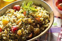Cantinho Vegetariano: Tabule de Quinua com Damascos, Pinoli e Ervas (veg...