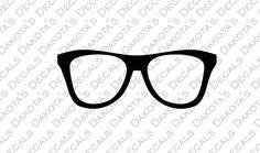 Glasses SVG for Download by DakotasDecals on Etsy