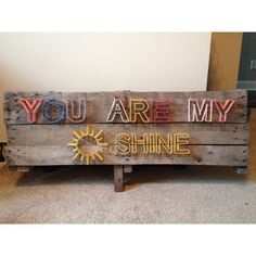 You are my sunshine pallet string art