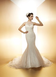 CHARLIZE - Wedding Gown / 2014 Collection - by Matthew Christopher - Available colours : White & Off White