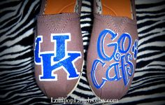 Kentucky Wildcats Hand Painted Canvas Shoe Knock by LollipopLaughs, $40.00