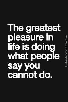 one of the greatest pleasures...