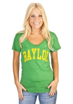 Baylor Women's Fitted Green Shirt