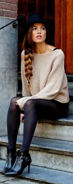 "off the shoulder sweater...""Ready or Knit"" #shopdailychic"