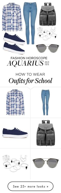 """""""Back to school"""" by pxxych on Polyvore featuring Rails, Topshop and Keds"""