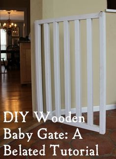 Plans for making a simple DIY baby or pet gate