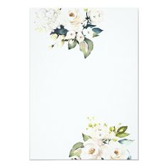Floral Wedding Invitations, Custom Invitations, White Roses, White Envelopes, Special Occasion, Backdrops, Vibrant, Hydrangeas, Cards