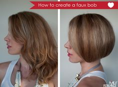 How to create a faux bob - actually, this is exactly how I did it for my 20s dress (and before I saw this tutorial! yeah!)