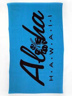 Blue Hawaii Beach Towel Hibiscus Maui Royal Towels Verano Blanket Plant