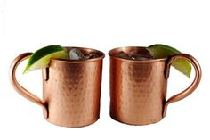 Buy Our 2 Pack of Pure Copper Hammered Moscow Mule Mugs for $41.95. These 14 oz vintage-inspired mugs are beautifully hand-crafted to look like an antique.