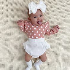 Cute Baby Girl, Cute Babies, Baby Girls, Stylish Petite, Little Fashionista, Baby Sister, Happy Baby, Party Looks, Summer Baby