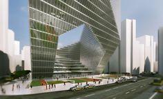Proposta Vencedora para Torre de Uso Misto em Pequim / DOS Architects