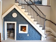 The dream is bigger than ever – CHEO Foundation, Minto unveil square foot homage to Canada - Home Dekoration Under Stairs Playroom, Under Stairs Dog House, Under Stairs Playhouse, Cool Dog Houses, Play Houses, Dog Bedroom, Puppy Room, Dog Rooms, Basement Remodeling