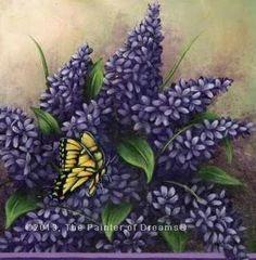 Lilac painting by Arkansas artist, Sheri Hart