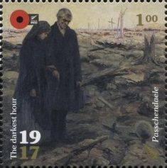 Stamp: Relatives at Tyne Cot Cemetery, Passchendaele (New Zealand) (100th Anniv. of WWI: 1917. The Darkest Hour.) Mi:NZ 3444,Sg:NZ 3884