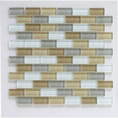 potential tile to tie in the beige countertops and white cabinets (grey walls hopefully!)