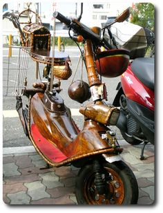 Steampunk Scooter in Japan