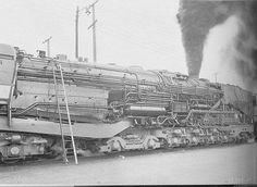 C&O coal-fired steam turbine-electric locomotive with skirting removed.