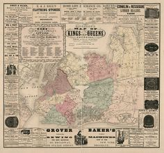 289 Best New York Vintage Map images