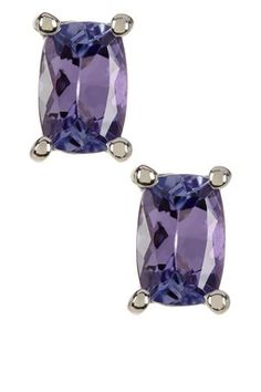 Sterling Silver Tanzanite Stud Earrings