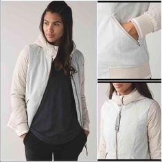 NWT Lululemon Chilly Bomber Jacket Sand Sz 6 PRICE FIRM...NO OFFERS please!! This beautiful bomber jacket is SOLD OUT online!  NO trades/holds • When temperatures drop, 650-fill-power goose down helps keep you warm so you can take to the street and beat the chill • Wind- and water-resistant fabric body helps keep the warmth in and elements out • Lightweight fabric in the sleeves help to reduce bulk • The insulated collar helps keep you warm, even when you remove the hood • Zippered pockets…