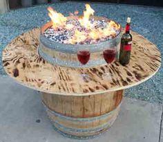 Convert a wine barrel into a safe outdoor firepit. Convert a wine barrel into a safe outdoor firepit Deck Fire Pit, Gazebo With Fire Pit, Fire Pit Wall, Fire Pit Party, Fire Pit Decor, Easy Fire Pit, Metal Fire Pit, Garden Fire Pit, Fire Pit Backyard