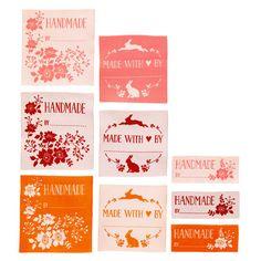 Etichette di stoffa Tilda - Cabbage Rose da Tone Finnanger - Tilda - Tilda - Casa Cenina