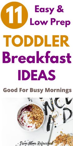 Healthy Toddler Breakfast, Healthy Toddler Meals, Toddler Lunches, Nutritious Breakfast, Healthy Breakfast Recipes, Breakfast Ideas, Kid Breakfast, Toddler Food, Toddler Stuff