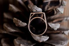 Items similar to Recycled Rune Ring Rings With Meaning, Black Acrylics, Wooden Rings, Runes, Recycling, Creativity, Silver Rings, Wedding Rings