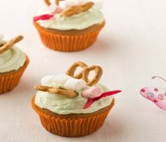 Butterfly Cupcakes: These tasty little cupcakes would be perfect for a girls birthday party using ALLEN'S Snakes Alive. http://www.bakers-corner.com.au/recipes/allens/butterfly-cupcakes/