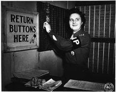 [Mildred Curtis Scott in MP brassard, 1944] :: Women Veterans Historical Project
