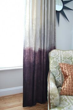dip die drapes  http://creativehomebody.com/ombre-dip-dyed-curtains/