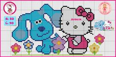 """Delicate Corner: Charts Cross Stitch """"Hello Kitty"""" and like OMG! get some yourself some pawtastic adorable cat apparel! Cross Stitch For Kids, Cross Stitch Animals, Cross Stitch Charts, Cross Stitch Patterns, Hello Kitty, Everything Cross Stitch, Stitch Cartoon, Miss Kitty, Felt Quiet Books"""